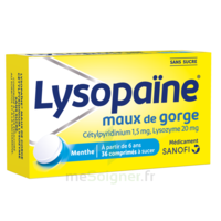 LysopaÏne Comprimés à Sucer Maux De Gorge Sans Sucre 2t/18 à BARCARÈS (LE)