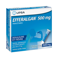 Efferalgan 500 mg Glé en sachet Sach/16 à BARCARÈS (LE)