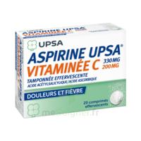 ASPIRINE UPSA VITAMINEE C TAMPONNEE EFFERVESCENTE, comprimé effervescent à BARCARÈS (LE)