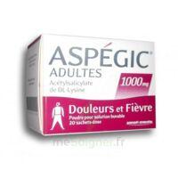 ASPEGIC ADULTES 1000 mg, poudre pour solution buvable en sachet-dose 20 à BARCARÈS (LE)