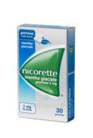 NICORETTE 2 mg Gom à mâcher médic sans sucre menthe glaciale Plq/30gom à BARCARÈS (LE)