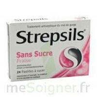 STREPSILS FRAISE SANS SUCRE, pastille édulcorée à l'isomalt, au maltitol et à la saccharine sodique à BARCARÈS (LE)