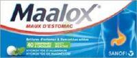 MAALOX HYDROXYDE D'ALUMINIUM/HYDROXYDE DE MAGNESIUM 400 mg/400 mg Cpr à croquer maux d'estomac Plq/40 à BARCARÈS (LE)