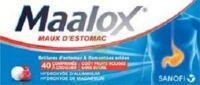 MAALOX MAUX D'ESTOMAC HYDROXYDE D'ALUMINIUM/HYDROXYDE DE MAGNESIUM 400 mg/400 mg SANS SUCRE FRUITS ROUGES, comprimé à croquer édulcoré à la saccharine sodique, au sorbitol et au maltitol à BARCARÈS (LE)