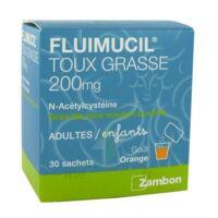 FLUIMUCIL EXPECTORANT ACETYLCYSTEINE 200 mg SANS SUCRE, granulés pour solution buvable en sachet édulcorés à l'aspartam et au sorbitol à BARCARÈS (LE)