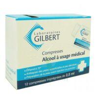 Alcool A Usage Medical Gilbert 2,5 Ml Compr Imprégnée 12sach à BARCARÈS (LE)