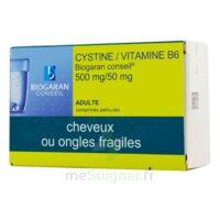 CYSTINE/VITAMINE B6 BIOGARAN CONSEIL 500 mg/50 mg Cpr pell Plq/120 à BARCARÈS (LE)