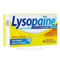 LYSOPAÏNE MAUX DE GORGE CETYLPYRIDINIUM LYSOZYME MIEL CITRON SANS SUCRE, comprimé à sucer édulcoré au sorbitol et à la saccharine à BARCARÈS (LE)