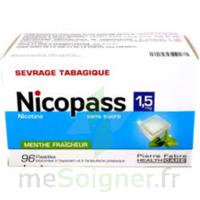 Nicopass 1,5 mg Pastille sans sucre menthe fraîcheur Plq/96 à BARCARÈS (LE)