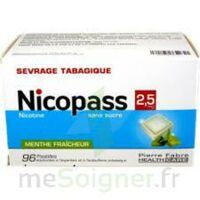 Nicopass 2,5 Mg Pastille Menthe Fraîcheur Sans Sucre Plq/96 à BARCARÈS (LE)