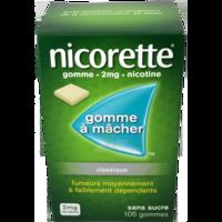 NICORETTE 2 mg Gom à mâcher médic sans sucre menthe fraîche Plq/105gom à BARCARÈS (LE)