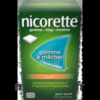 Nicorette 2 mg Gomme à mâcher médicamenteuse sans sucre fruits Plq/30 à BARCARÈS (LE)
