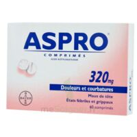 ASPRO 320 mg, comprimé à BARCARÈS (LE)