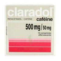 CLARADOL CAFEINE 500 mg/50 mg, comprimé effervescent à BARCARÈS (LE)