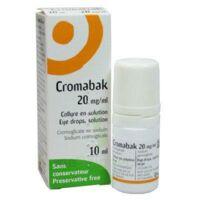 Cromabak 20 Mg/ml, Collyre En Solution à BARCARÈS (LE)