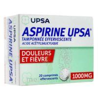 ASPIRINE UPSA TAMPONNEE EFFERVESCENTE 1000 mg, comprimé effervescent à BARCARÈS (LE)