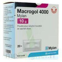 MACROGOL 4000 MYLAN 10 g, poudre pour solution buvable en sachet-dose à BARCARÈS (LE)