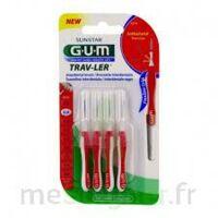 Gum Trav - Ler, 0,8 Mm, Manche Rouge , Blister 4 à BARCARÈS (LE)
