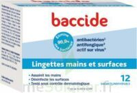 Baccide Lingette désinfectante mains & surface 12 Pochettes à BARCARÈS (LE)