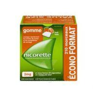 Nicorette 2 mg Gomme à mâcher médicamenteuse sans sucre fruits Plq/210 à BARCARÈS (LE)