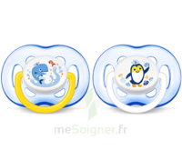 Avent Sucette aérée silicone 6-18 mois Pingouin/Baleine B/2 à BARCARÈS (LE)