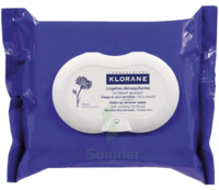 Klorane Soins des Yeux au Bleuet Lingette démaquillante biodégradable Pack/25 à BARCARÈS (LE)