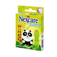 Nexcare Sensitive Soft Happy Kids Pansements microporeux Animaux 2 tailles B/20