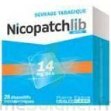 NICOPATCHLIB 14 mg/24 h Dispositifs transdermiques B/28 à BARCARÈS (LE)