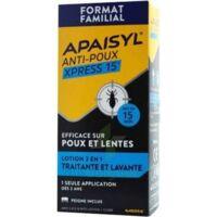 Apaisyl Anti-poux Xpress 15' Lotion antipoux et lente 100ml+peigne à BARCARÈS (LE)