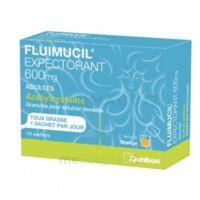 FLUIMUCIL EXPECTORANT ACETYLCYSTEINE 600 mg Glé s buv adultes 10Sach à BARCARÈS (LE)