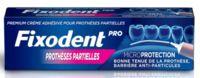 Fixodent Pro Crème Adhésive Pour Prothèse Partielle T/40g à BARCARÈS (LE)