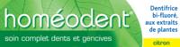 Boiron Homéodent Soin Complet Dents Et Gencives Pâte Dentifrice Citron 2t/75ml