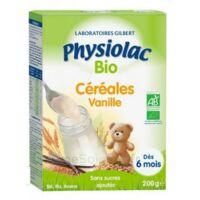 Physiolac Céréales Vanille Bio B/200g à BARCARÈS (LE)