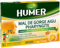 Humer Pharyngite Pastille Mal De Gorge Miel Citron B/20 à BARCARÈS (LE)